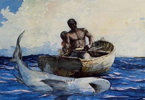 Winslow Homer Shark Fishing 104x72 [Kitchen]