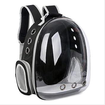 WENXX Mochila Panorámica Transparente para Mascotas, Maleta Portátil para Llevar Al Aire Libre, Maletas para Perros Y Gatos,Black: Amazon.es: Hogar