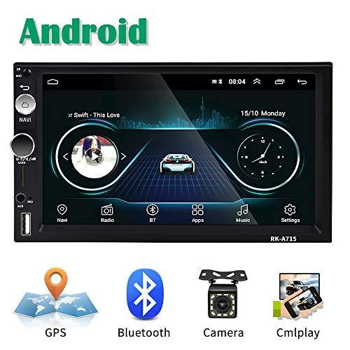🥇 Android Coche Radio 2 DIN GPS CAMECHO 7 Pulgadas Pantalla táctil capacitiva Bluetooth WiFi USB SD AUX FM Reproductor de automóvil Estéreo Enlace de Espejo + Cámara Trasera
