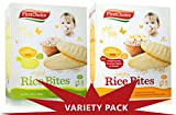 First Choice Rice Bites Baby Snacks 1 Banana 1 Original (Variety 2 pack)