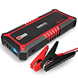 GOOLOO 1500A Peak SuperSafe Car Jump Starter with USB Quick Charge 3.0 (Up to 10L Gas or 7L Diesel Engine) 12V Auto Battery Booster Power Pack Type-C Portable Phone Charger