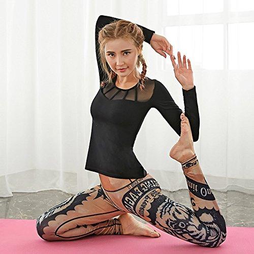 JIALELE Yogahose Hosen Yoga Yoga Pant_Reparatur Höhe Pop Video Dünnen Stempel