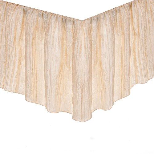 Charlotte Ivory Crinkle Taffeta Crib Skirt by Glenna (Crinkle Ruffled Skirt)