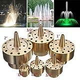 Garden Landscape Fountain Nozzle Fireworks Shape Brass Fountain Spray Head