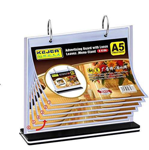 Flip White Earrings - T-Type A5 Multi-Page Card Flip menu Card Price Card Display Card Wine Plate billboards
