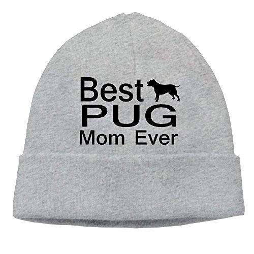 Winter Warm Cap Hat Unisex Dog Lover Mug Best Pug Mom Ever Dog Puppy Multi Use Cap Hip Hop Wq Unique Picture
