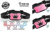 HEZe Dog Bark Collar,Humane Anti Barking Training Collar,Vibration No Shock Dog Collar,Stop Barking Collar for Small Medium Large Dogs,Gift to Dogs(Pink)