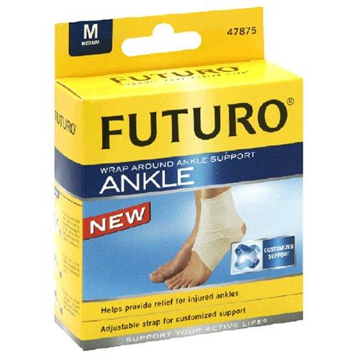 Futuro Wrap Around - Futuro Ankle Around Support Wrap # 47875, Medium/ pack, 2 pack