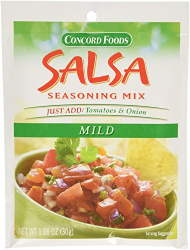 Concord Foods Mild Salsa Mix, 1.06-Ounce Pouches (VALUE Pack of 18 Pounces) ()