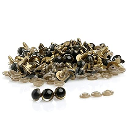 Safety Eyes Child Safety Eyes Plastic Safety Eyes Gold 100pcs 10MM Plastic Safety Eyes For Bear Doll Animal Puppet Craft