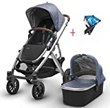 2017 Uppababy Vista Stroller with Bassinet & Rain Cover (henry)