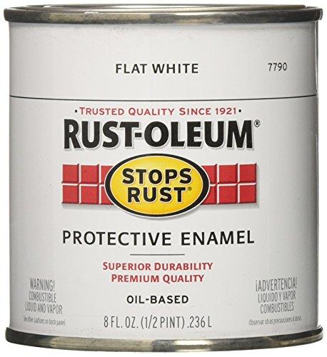 Rust-Oleum 7790730 Protective Enamel Paint, 8-Ounce, Flat (Exterior Flat)