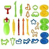 MNBS Dough Tools, 26pcs Clay Dough Tools Kit Clay Set Models Molds Childs