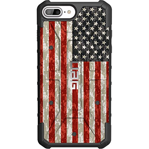 Limited Edition - Authentic UAG- Urban Armor Gear Case for Apple iPhone 8 Plus/7 PLUS/6s Plus/ 6 Plus (Larger 5.5) Custom by EGO Tactical- USA Digital Camouflage Flag