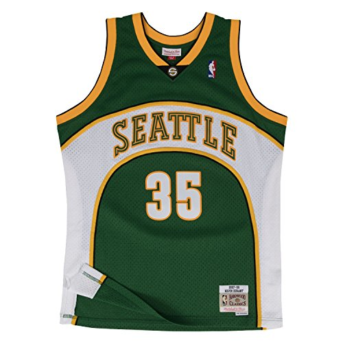 Mitchell & Ness Men's Seattle Supersonics Kevin Durant Swingman Jersey, Green, Medium