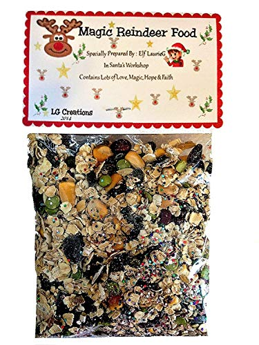 Laurie G Creations Favorite Magic Reindeer Food Premium Blend Christmas Eve Tradition for Santa & Rudolph ()