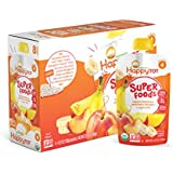 Happy Tot Organic Stage 4 Super Foods, Bananas, Peaches & Mangos + Super Chia, 4.22 Ounce (Pack of 8)