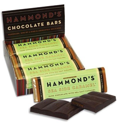 Hammond's Candies Chocolate Bar Milk Sea Side Caramel (Chocolate Side)