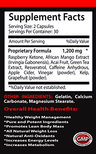 Lose weight - RASPBERRY KETONES LEAN 1200 EXTRACT - Raspberry ketones weight loss - 2 Bottles 120 Capsules