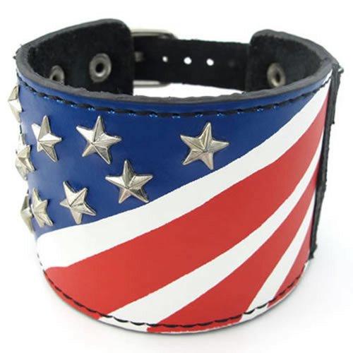 KONOV Leather Alloy Bracelet Bangle