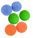 "Set Of 4 Reusable Dryer Balls Replace Laundry Drying Fabric Softener ""Random Colors"" TZIPCO"