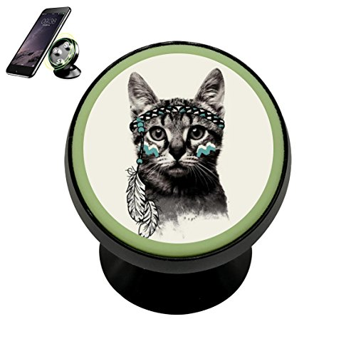 - Vehicle Phone Mount Primitive Cat Holder Magnetic Universal Cradle Stand Car Dashboard Mount Strong Magnets Cell Phone Kit Women Men
