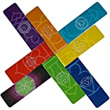 Long Magnetic Bookmarks - Longer Premium Beautiful Page Markers Chakra Colors Useful Info On Chakras No Scratch To Your Pages Or Metal Surfaces (Set of 8 Pieces, 1 x 3.2 inch Folded Size).