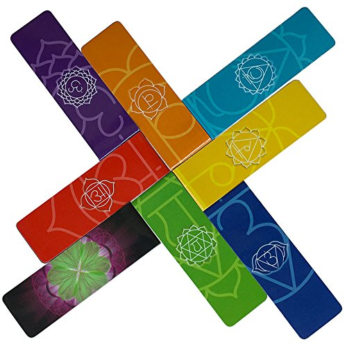 Long Magnetic Bookmarks - Longer Premium Beautiful Page Markers Chakra Colors Useful Info On Chakras No Scratch To Your Pages Or Metal Surfaces (Set of 8 Pieces, 1 x 3.2 inch Folded Size). by MAGnerds™