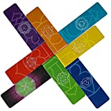 LONG Chakra Magnetic Bookmark - Informational Bookmarks About The Energy Centers In Our Body 8-Piece Pack, 1 x 3.2 inch Folded Size. Vivid Colors Beautiful Mandalas Useful Tips For Healthy Chakras
