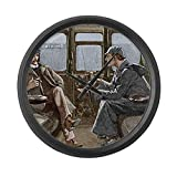 CafePress – Sherlock Holmes And Dr. Watson – Large 17″ Round Wall Clock, Unique Decorative Clock Review