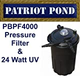Patriot Bio Pro 4000 Pressure Filter with Built-In 24 Watt UV for Ponds to 4,000 Gallons