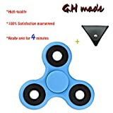 G.H made Fidget Spinner Toy, Easy Flick, Spin single/both Hands Finger Prime Toys Perfect For ADHDHand Spinner for Kids & Adults - 3-5 mins Spin Time (blue)