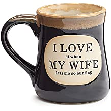 1 x Love It When Mi Esposa Lets Me Go Caza Café Té Taza 18oz Caja de Regalo