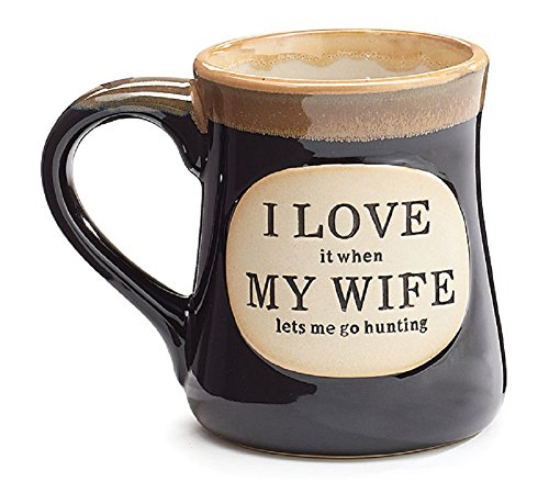 1 X Love it When my Wife Lets Me go Hunting Coffee Tea Mug Cup 18oz Gift Box