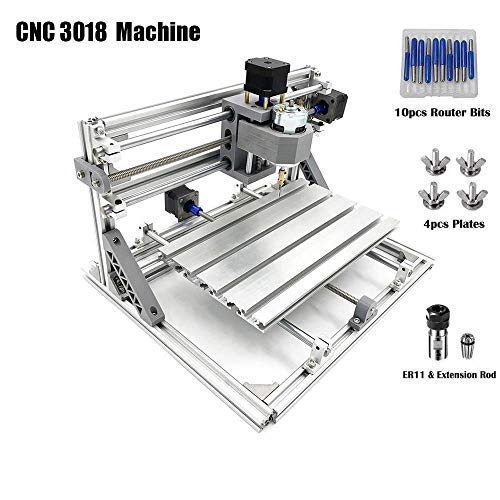 MYSWEETY DIY CNC Router Engraving Kit, Working Area 30x18x4.5cm, DIY CNC Router Milling Machine 3 Axis Mini Wood PCB Acrylic Metal Engraving Carving Machine