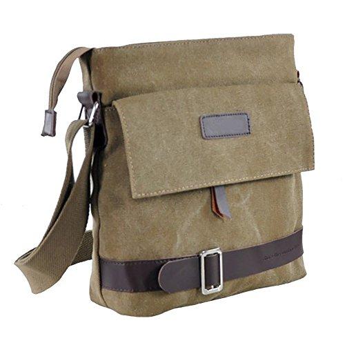 Vintage Leisure Single Shoulder Bag Mini Backpack Messenger Chest Bag for Men (Brown) - 6