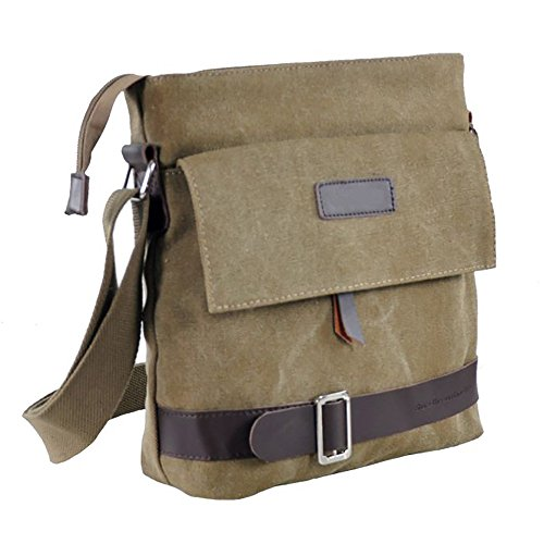 Mfeo Unisex Vintage Retro Canvas Messenger Bag Cross-Body Bag Shoulder Bag Purse