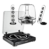AudioTechnica AT-LP60 Fully Automatic Stereo 2-Speed Turntable System (Black) with Harman Consumer SoundSticks III 2.1 Plug and Play Multimedia Speaker System
