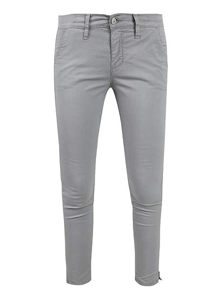 d854e523736c Holiday Pantaloni a Sigaretta Slim Fit Donna Grigio Cotone: Amazon.it:  Abbigliamento