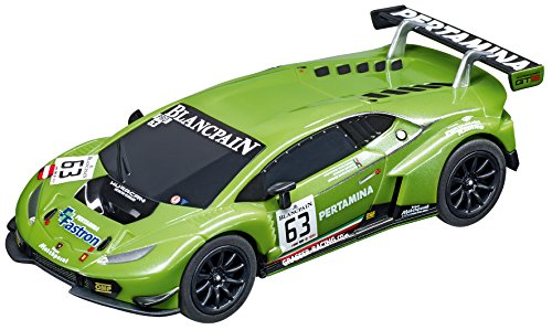 Carrera GO!!! 64062 Lamborghini Huracán GT3, No.63 Slot Car Racing Vehicle (Slots Carrera)