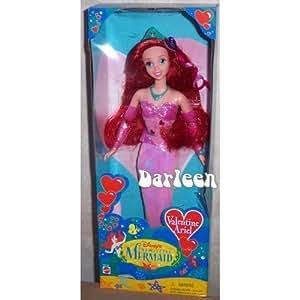 Amazon.com: Disney Valentine Ariel Little Mermaid doll