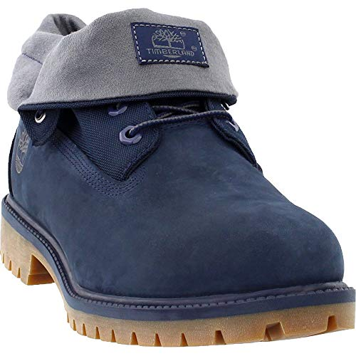 Timberland Men's Icon Collection Single Roll-Top Ankle Boot Navy Nubuck 11 Medium US