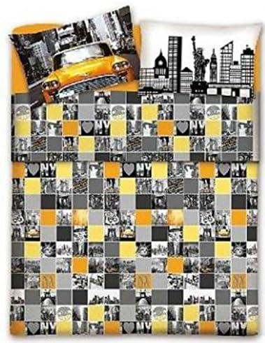 Copriletto Matrimoniale New York.Smartsupershop Copriletto Estivo Matrimoniale New York City Citta Taxy Giallo 2 Federe In Omaggio In Cotone Piquet Jacquard Made In Italy Federe In Regalo Amazon It Casa E Cucina