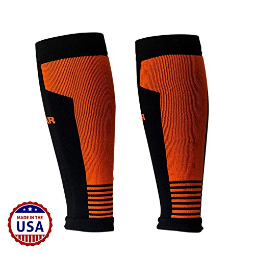 MudGear Compression Calf Sleeves - Graduated Performance for Running, Sports Recovery, Shin and Leg Muscle Support