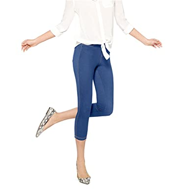 04d81e5ccee32 Image Unavailable. Image not available for. Color: No Nonsense Denim Capri  Leggings with Pockets ...