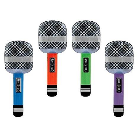 Amazon.com: Rocking Varios colores hinchable micrófonos ...