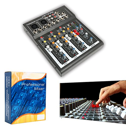 Professional 4/7 Channel Live Studio Audio Sound USB Compact Mixer Mixing Console (4 ()