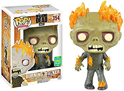 amazon com funko pop tv the walking dead burning walker 2016