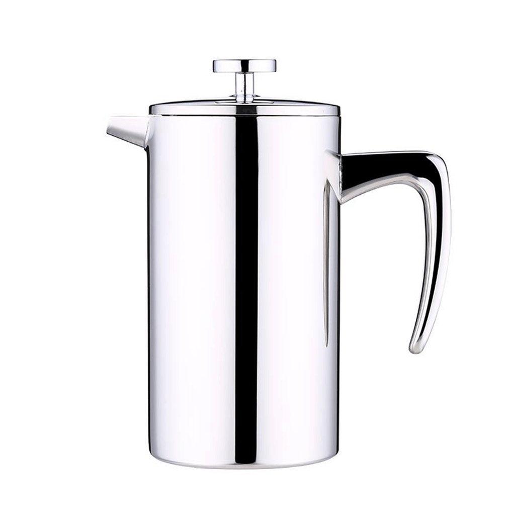 Acquisto Caffettiera ZHAOJING Acciaio Inox a Doppio Strato Uso Domestico Filtro per pressa con Filtro per tè Rosso Punch Coffee Pot (capacità : 800cc) Prezzi offerta