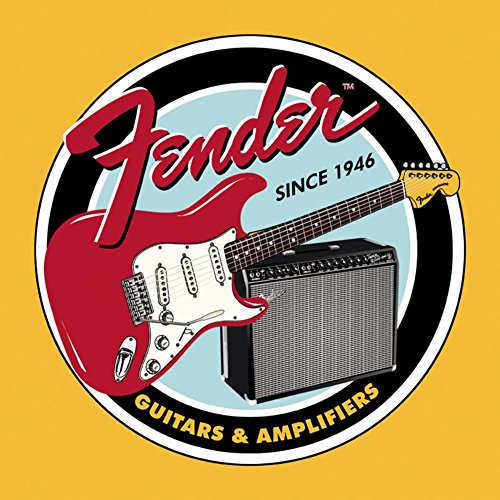 Fender Guitar Clothing (Fender Round Guitars & Amplifier Tin Sign)